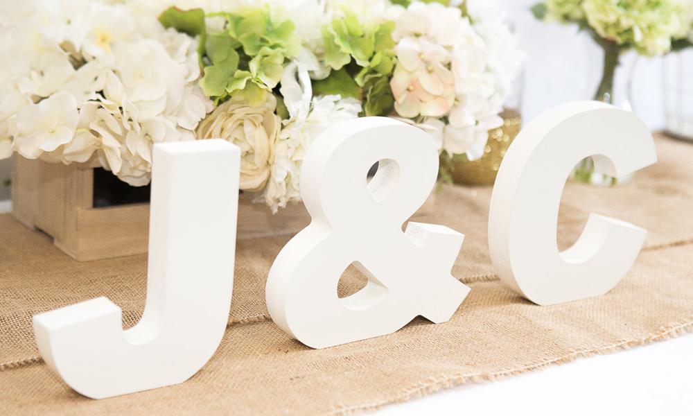Letras para bodas