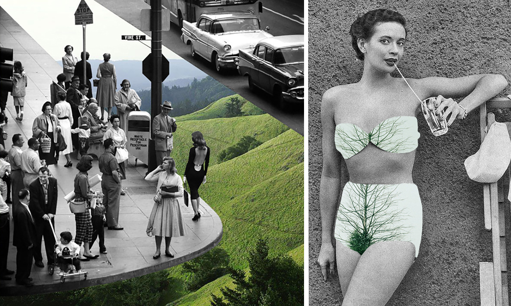 Los collages digitales de Merve Özaslan