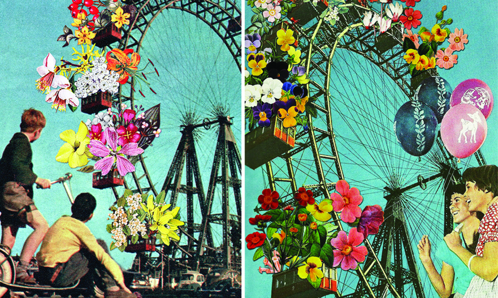 Los collages surrealistas de Eugenia Loli