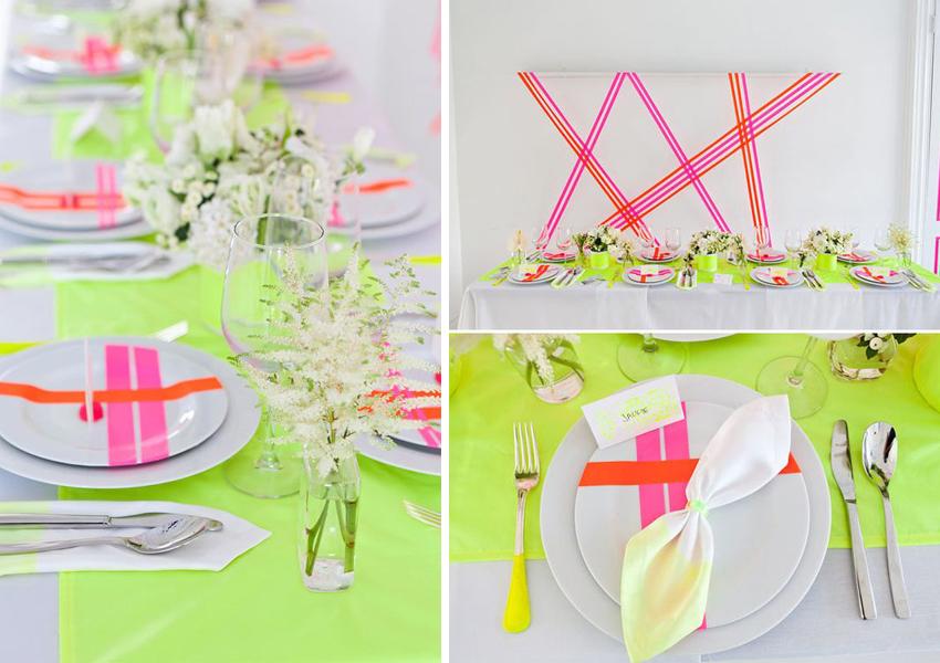 El neon en las bodas