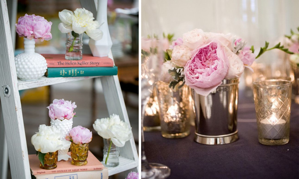Peonías para decorar una boda